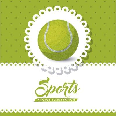 Quadro disegno di tennis campionato
