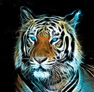 Quadro Disegno digitale di una tigre