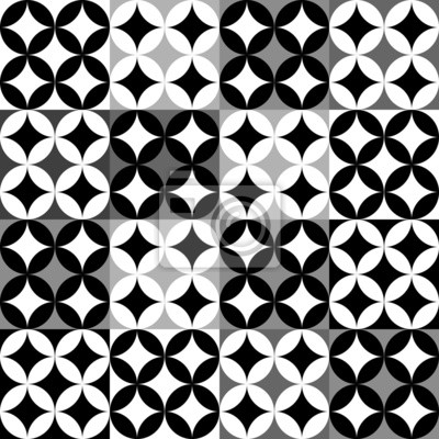 Quadro Disegno Geometrico In Bianco E Nero
