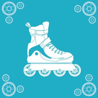 Quadro disegno pattinaggio a rotelle