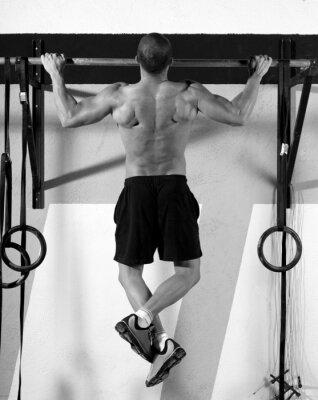 Quadro Dita CrossFit per bar man pull-up 2 bar di allenamento