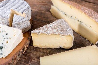 Quadro Diverse varietà di formaggi francesi