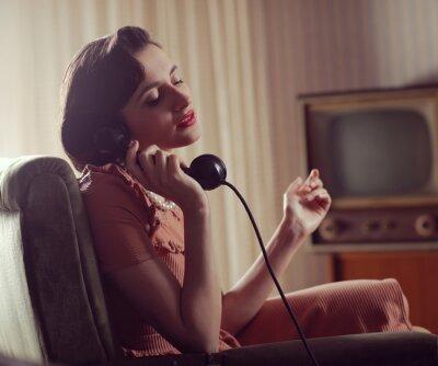 Quadro Donna al telefono