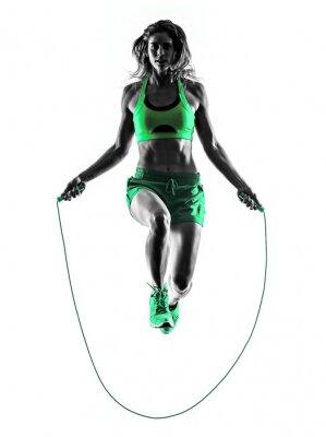 Quadro donna esercizi di fitness Jumping Rope Silhouette