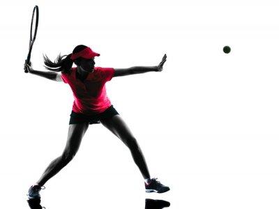 Quadro donna giocatore di tennis tristezza sagoma