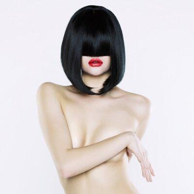 Quadro Donna nuda con taglio di capelli corto