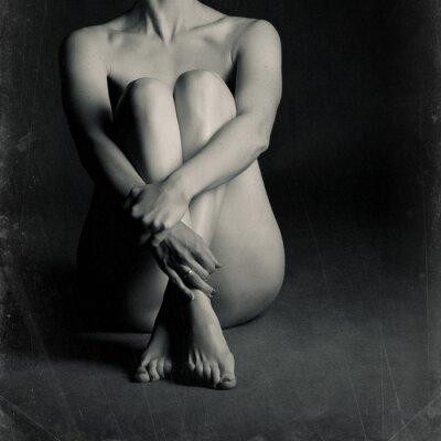 Quadro donna seduto nudo