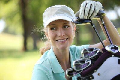 Quadro Donna sul campo da golf