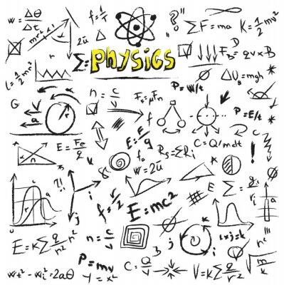 Quadro Doodle Fisica formule di fondo, texture e pattern