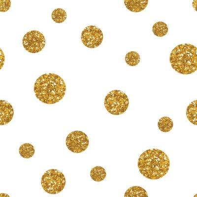 Quadro Dots seamless con glitter dorato texture.