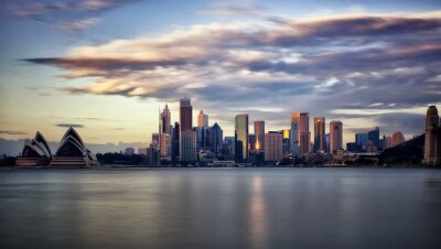 Quadro Downtown Sydney all'alba