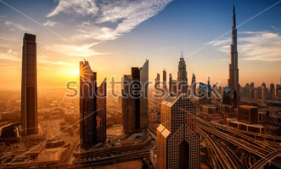 Quadro Dubai all'alba