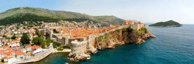 Quadro Dubrovnik mura panorama