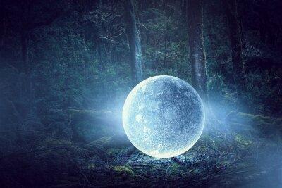 Quadro È la luna piena. Supporti misti