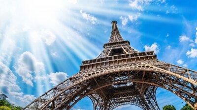 Quadro Eiffelturm - Weitwinkel Aufnahme