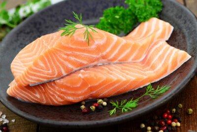 Quadro erbe salmone