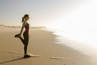 Quadro Esercizio in spiaggia