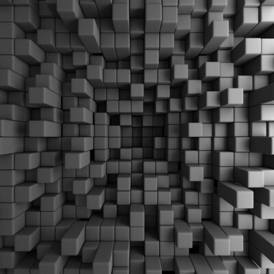 Quadro Estratto cubi 3D Blocks Background Wallpaper