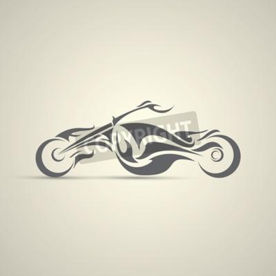 Quadro etichetta vintage moto, distintivo, elemento di design. logo del motociclo astratto