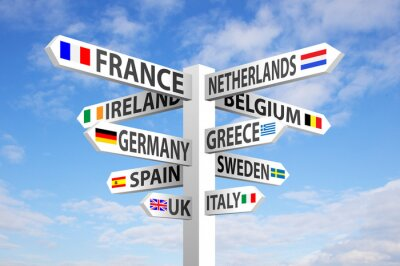 Quadro Europa Signpost