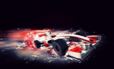 Quadro F1 generico con effetto speciale velocità