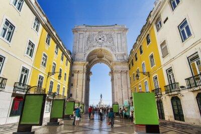 Quadro famoso arco della strada Augusta si trova a Lisbona