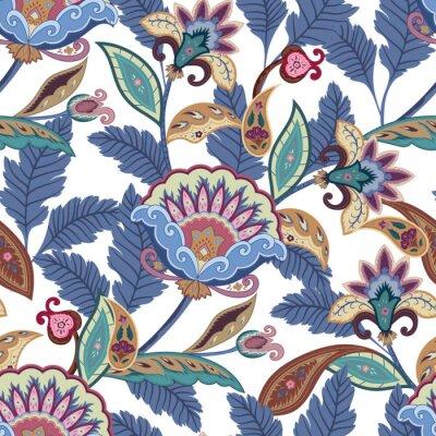 Quadro fantasia fiori seamless paisley pattern. Ornamento floreale, per il tessuto, involucro, carta da parati