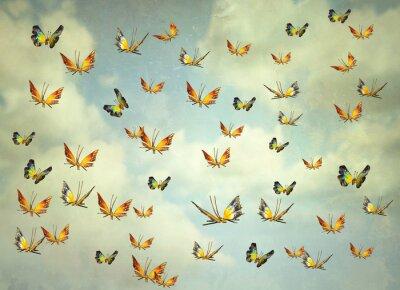 Quadro Farfalle nel cielo