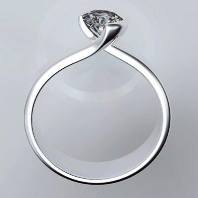 Quadro Fede nuziale con il diamante
