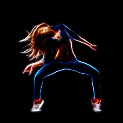 Quadro Femmina ballerino hip hop