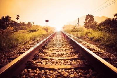 Quadro ferrovia d'epoca