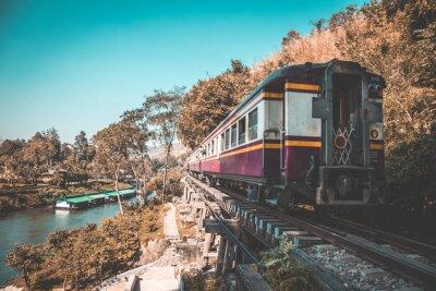 Quadro Ferrovia della morte a Kanchanaburi, in Thailandia