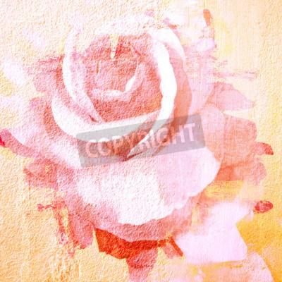 Quadro Fiore bella rosa, vernice di arte astratta per lo sfondo