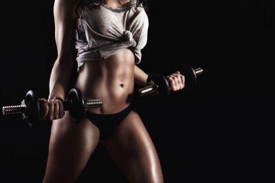 Quadro Fitness donna in un duro allenamento