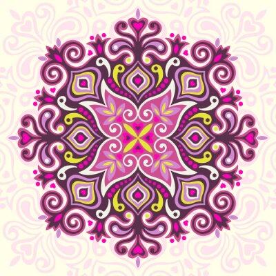 Quadro Flower Mandala. Elemento astratto per la progettazione