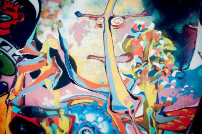 Quadro Fond abstraite peinture