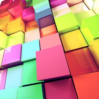 Quadro Fondo abstracto de cubos de colores