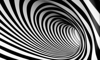 Quadro Fondo espiral Abstracta 3d en blanco y negro
