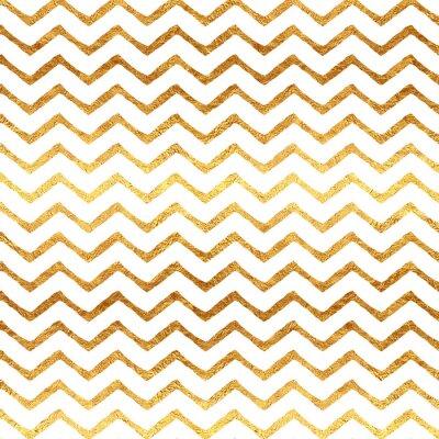 Quadro Fondo Oro Faux Foil Chevron Metallic White Pattern