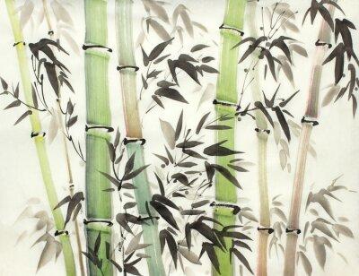 Quadro foresta di bambù luminosa