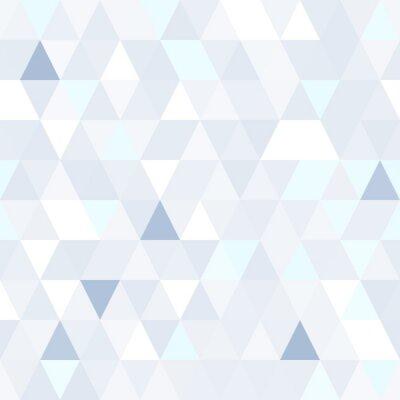 Quadro Forma triangolare scintillante seamless blu. sfondo lucido geometrica.