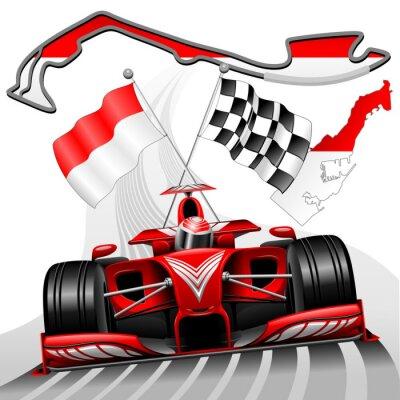 Quadro Formula 1 GP di Monaco