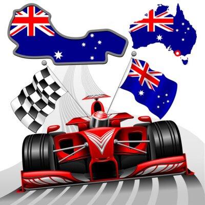 Quadro Formula 1 Race Car GP in Australia
