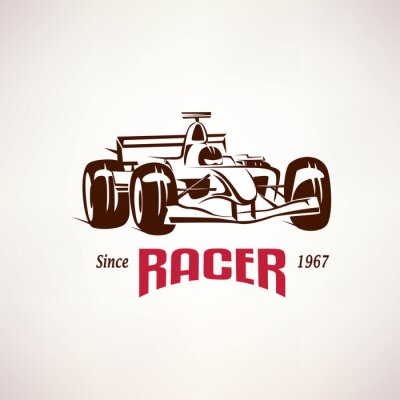 Quadro Formula auto da corsa emblema, bolide da corsa simbolo