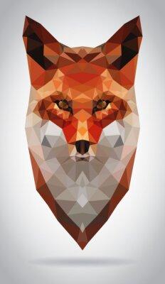Quadro Fox testa illustrazione isolato geometrico illustrazione moderna