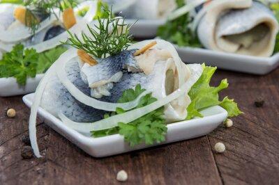 Quadro Fresca fatta Rollmop su un piatto
