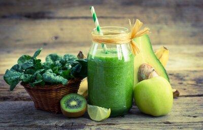 Quadro Fresco e sano frullato verde