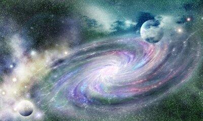 Quadro Galassia a spirale in Universe