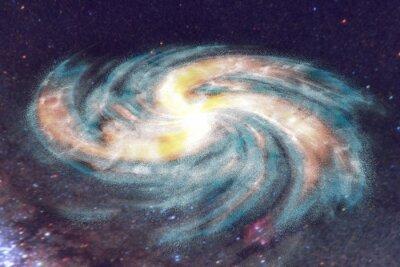 Quadro Galassia a spirale su sfondo spazio con le stelle