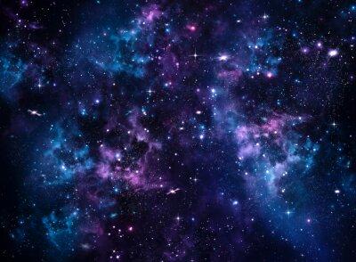 Quadro Galaxy, astratto blu
